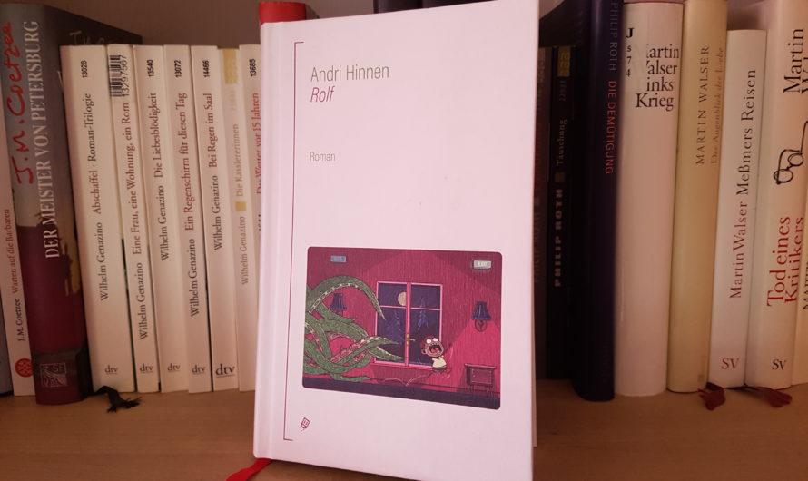 «Rolf» – Unterhaltsamer Roman über die Angst vor dem Erwachsenwerden